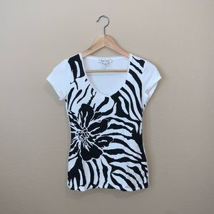 A black and white shirt